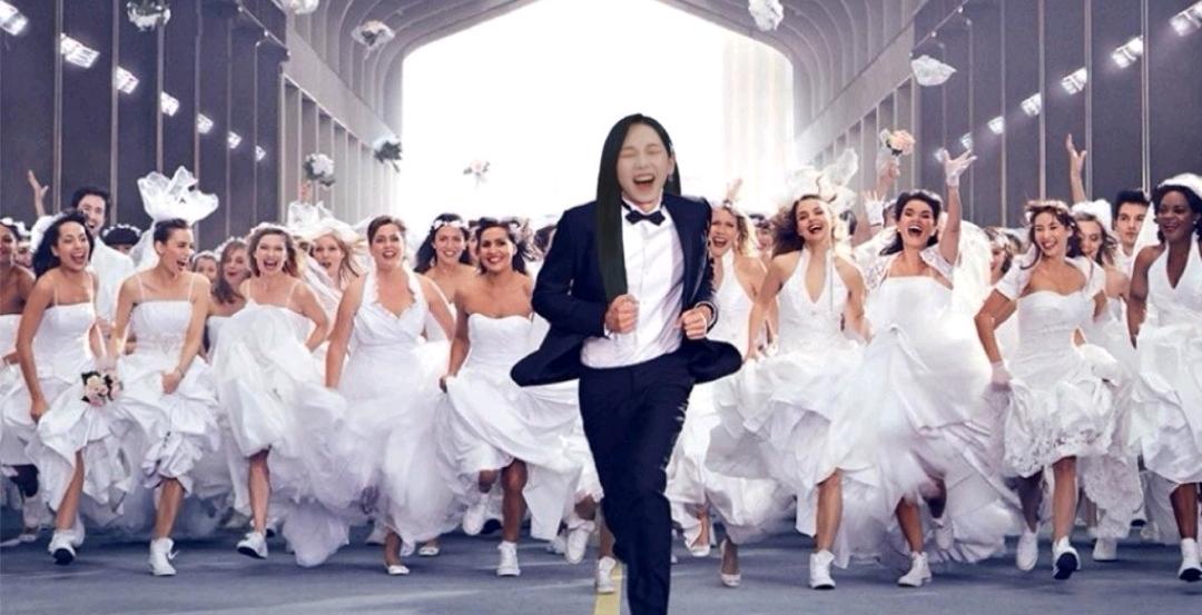 被很多新娘追著跑很慌張的劉知珉,想嫁給Karina的可不止一個